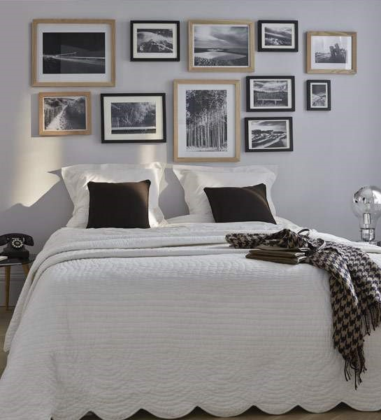 cahier d inspiration mur de cadres. Black Bedroom Furniture Sets. Home Design Ideas