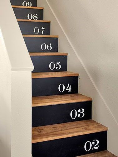 cahier d inspiration customiser un escalier. Black Bedroom Furniture Sets. Home Design Ideas