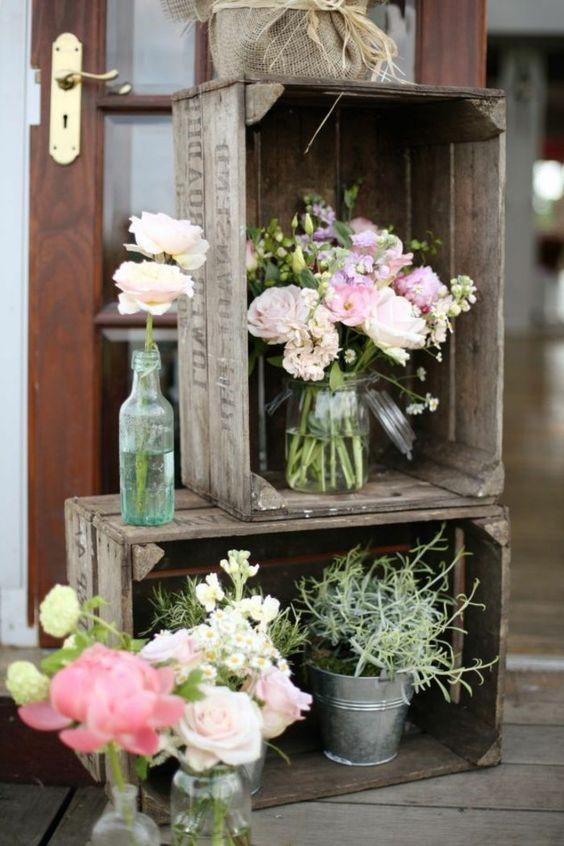 Jolie table repas champ tre - Faire ses compositions florales ...