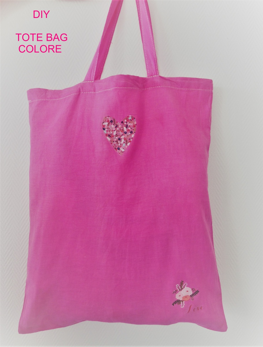 diy tote bag colore. Black Bedroom Furniture Sets. Home Design Ideas
